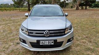 2015 Volkswagen Tiguan 5N MY15 155TSI DSG 4MOTION R-Line Silver 7 Speed Sports Automatic Dual Clutch.
