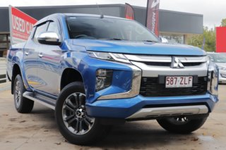 2019 Mitsubishi Triton MR MY20 GLS Double Cab Blue 6 Speed Sports Automatic Utility.