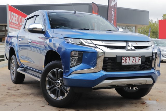 Used Mitsubishi Triton MR MY20 GLS Double Cab Toowoomba, 2019 Mitsubishi Triton MR MY20 GLS Double Cab Blue 6 Speed Sports Automatic Utility