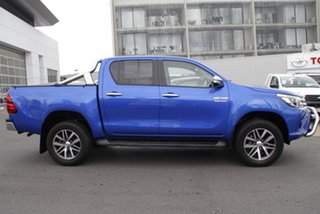 2017 Toyota Hilux GUN126R SR5 Double Cab Nebula Blue 6 Speed Manual Utility.