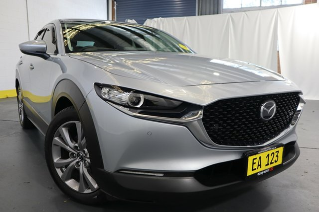 Used Mazda CX-30 DM2WLA G25 SKYACTIV-Drive Touring Castle Hill, 2020 Mazda CX-30 DM2WLA G25 SKYACTIV-Drive Touring Silver 6 Speed Sports Automatic Wagon