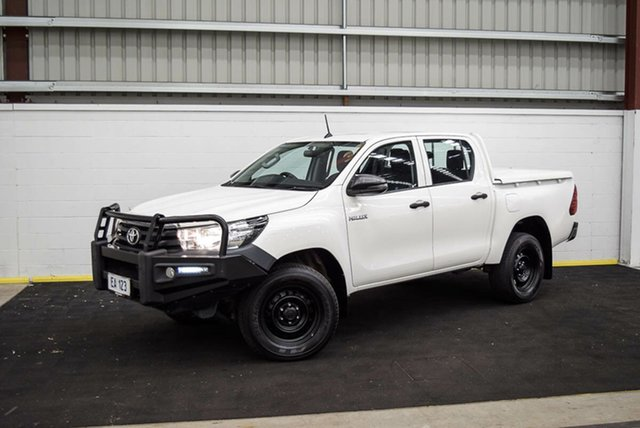 Used Toyota Hilux GUN125R Workmate Double Cab Canning Vale, 2017 Toyota Hilux GUN125R Workmate Double Cab White 6 Speed Sports Automatic Utility