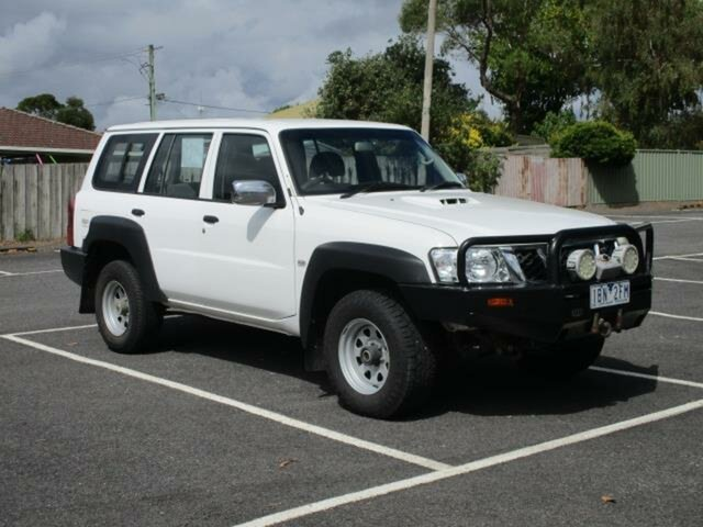 Used Nissan Patrol DX Timboon, 2010 Nissan Patrol GU 7 Turbo DX White Automatic Wagon