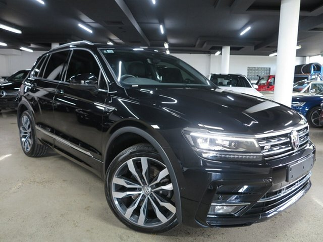 Used Volkswagen Tiguan 5N MY18 162TSI DSG 4MOTION Highline Albion, 2017 Volkswagen Tiguan 5N MY18 162TSI DSG 4MOTION Highline Black 7 Speed