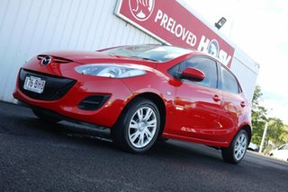 2013 Mazda 2 DE10Y2 MY13 Neo Red 4 Speed Automatic Hatchback.
