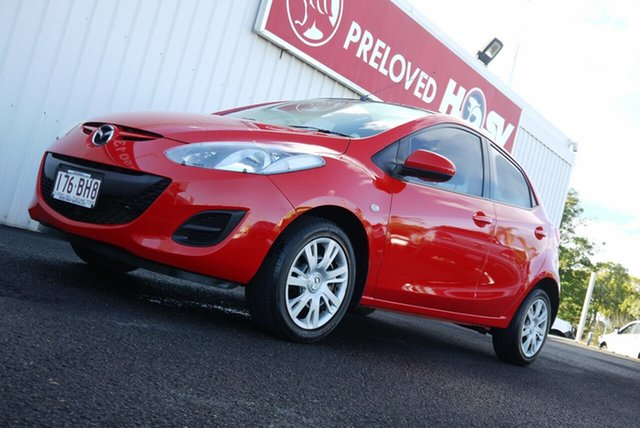 Used Mazda 2 DE10Y2 MY13 Neo Bundaberg, 2013 Mazda 2 DE10Y2 MY13 Neo Red 4 Speed Automatic Hatchback