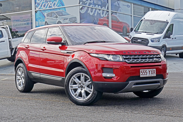 Used Land Rover Range Rover Evoque L538 MY13 TD4 CommandShift Pure Springwood, 2013 Land Rover Range Rover Evoque L538 MY13 TD4 CommandShift Pure Red 6 Speed Sports Automatic