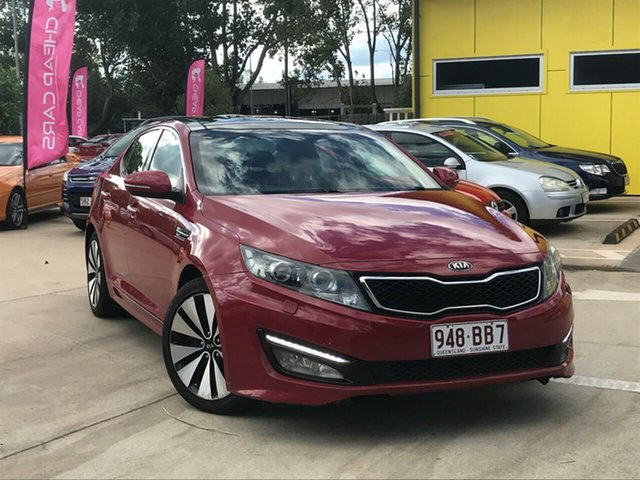Used Kia Optima TF MY13 Platinum Toowoomba, 2013 Kia Optima TF MY13 Platinum Red 6 Speed Sports Automatic Sedan