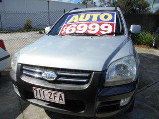 2005 Kia Sportage KM Silver 4 Speed Sports Automatic Wagon.