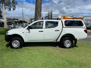 2009 Mitsubishi Triton ML MY09 GLX Double Cab 4x2 White 5 Speed Manual Utility.