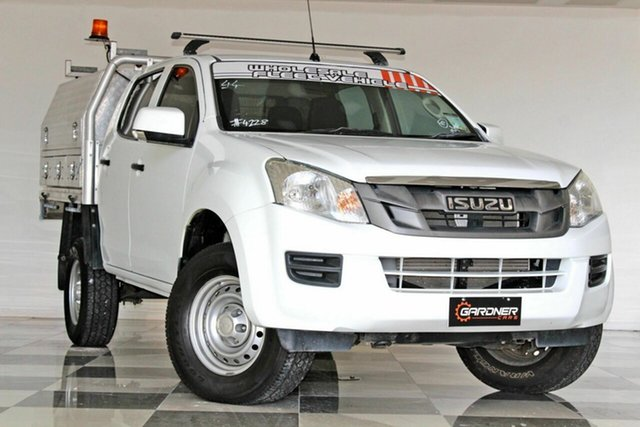 Used Isuzu D-MAX TF MY15 SX (4x2) Burleigh Heads, 2015 Isuzu D-MAX TF MY15 SX (4x2) White 5 Speed Automatic Crew Cab Chassis
