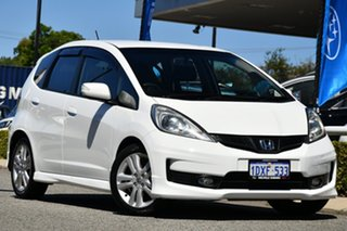 2012 Honda Jazz GE MY12 Vibe-S White 5 Speed Automatic Hatchback.