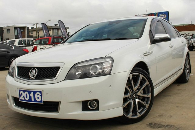 Used Holden Caprice WN II MY16 V Coburg North, 2016 Holden Caprice WN II MY16 V White 6 Speed Sports Automatic Sedan