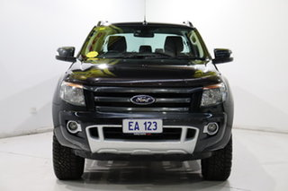 2013 Ford Ranger PX Wildtrak Double Cab Black 6 Speed Sports Automatic Utility