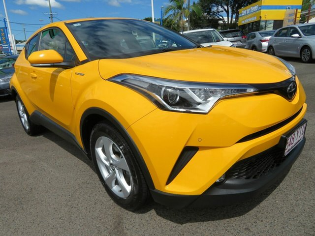 Used Toyota C-HR NGX10R S-CVT 2WD Mount Gravatt, 2018 Toyota C-HR NGX10R S-CVT 2WD Yellow 7 Speed Constant Variable Wagon