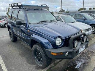 2002 Jeep Cherokee KJ Sport (4x4) Blue 4 Speed Automatic Wagon.