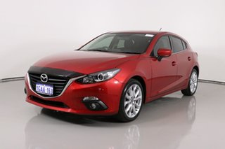 2016 Mazda 3 BM MY15 SP25 Red 6 Speed Automatic Hatchback.