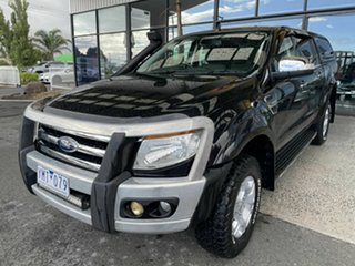 2011 Ford Ranger PX XLT 3.2 (4x4) Black 6 Speed Automatic Double Cab Pick Up