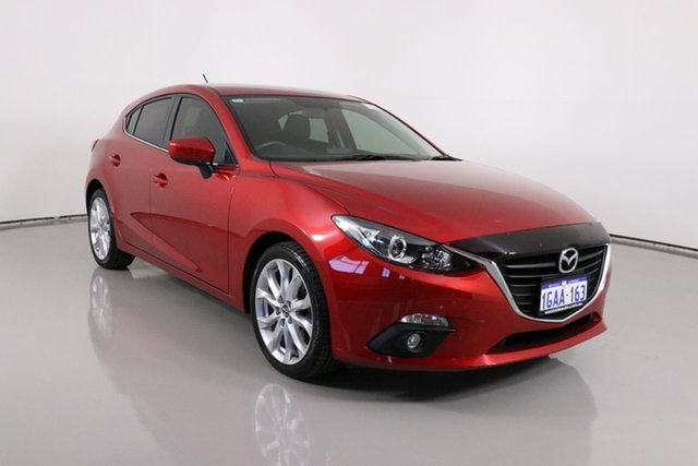 Used Mazda 3 BM MY15 SP25 Bentley, 2016 Mazda 3 BM MY15 SP25 Red 6 Speed Automatic Hatchback
