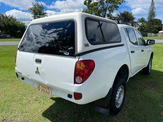 2009 Mitsubishi Triton ML MY09 GLX Double Cab 4x2 White 5 Speed Manual Utility