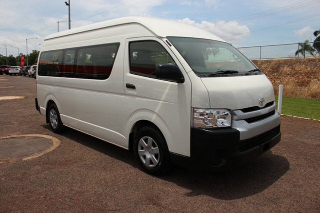 Pre-Owned Toyota HiAce KDH223R Commuter High Roof Super LWB Darwin, 2017 Toyota HiAce KDH223R Commuter High Roof Super LWB French Vanilla 4 Speed Automatic Bus