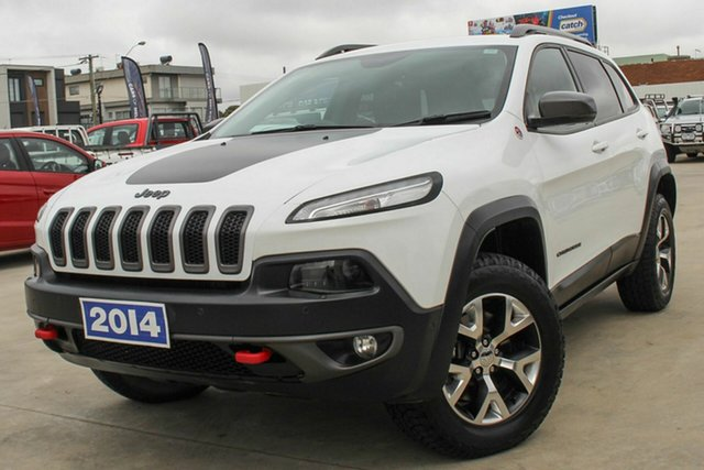 Used Jeep Cherokee KL MY15 Trailhawk Coburg North, 2014 Jeep Cherokee KL MY15 Trailhawk White 9 Speed Sports Automatic Wagon