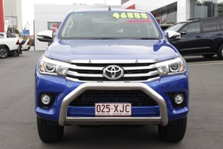 2017 Toyota Hilux GUN126R SR5 Double Cab Nebula Blue 6 Speed Manual Utility