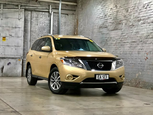 Used Nissan Pathfinder R52 MY14 ST X-tronic 2WD Mile End South, 2014 Nissan Pathfinder R52 MY14 ST X-tronic 2WD Gold 1 Speed Constant Variable Wagon