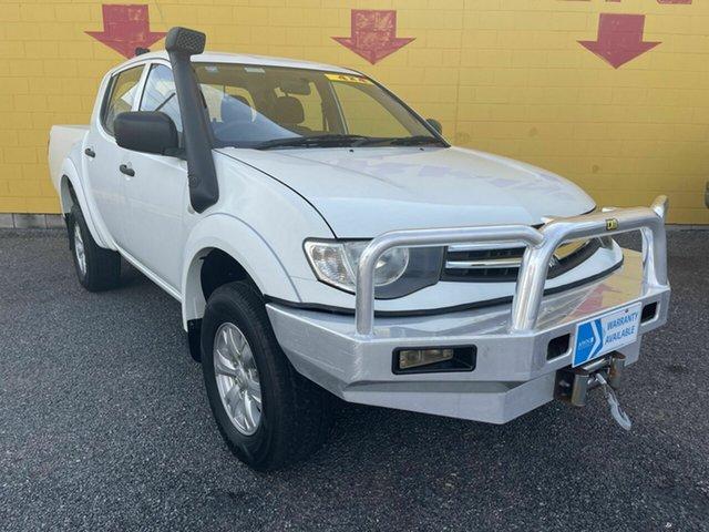Used Mitsubishi Triton MN MY15 GLX Double Cab Winnellie, 2014 Mitsubishi Triton MN MY15 GLX Double Cab White 4 Speed Sports Automatic Utility