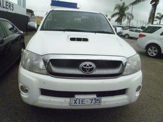 2009 Toyota Hilux KUN26R MY09 SR5 White 4 Speed Automatic Utility.