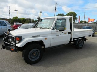 2006 Toyota Landcruiser HZJ79R (4x4) White 5 Speed Manual 4x4 Cab Chassis