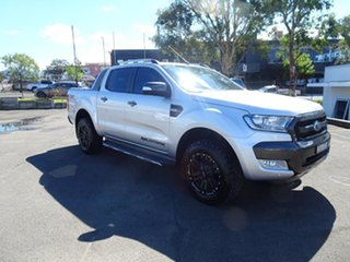 2017 Ford Ranger PX MkII Wildtrak Double Cab Ingot Silver 6 Speed Automatic Utility.