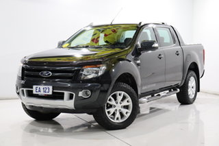 2013 Ford Ranger PX Wildtrak Double Cab Black 6 Speed Sports Automatic Utility.