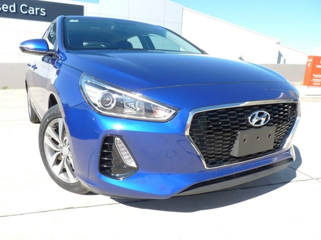 Pre-Owned Hyundai i30 PD2 MY19 Active Blacktown, 2019 Hyundai i30 PD2 MY19 Active Intense Blue 6 Speed Sports Automatic Hatchback