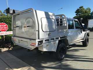 2016 Toyota Landcruiser VDJ79R GXL Double Cab Silver 5 speed Manual Cab Chassis