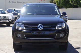 2015 Volkswagen Amarok 2H MY16 TDI420 4Motion Perm Highline Black 8 Speed Automatic Utility