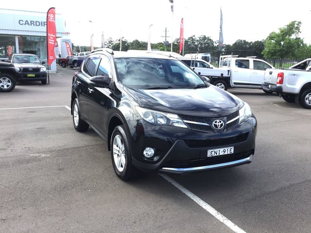 Pre-Owned Toyota RAV4 ASA44R MY14 GXL AWD Cardiff, 2014 Toyota RAV4 ASA44R MY14 GXL AWD Black 6 Speed Sports Automatic Wagon