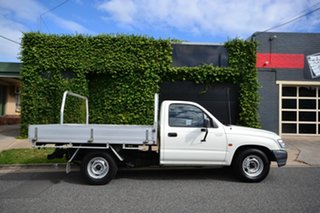 2003 Toyota Hilux RZN149R White 5 Speed Manual Cab Chassis.
