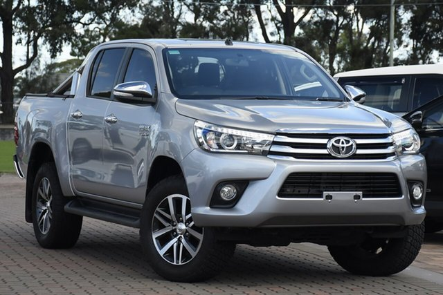 Pre-Owned Toyota Hilux GUN126R SR5 Double Cab Warwick Farm, 2017 Toyota Hilux GUN126R SR5 Double Cab Silver 6 Speed Sports Automatic Utility