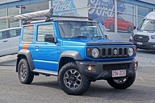 Used Suzuki Jimny JB74 GLX Springwood, 2019 Suzuki Jimny JB74 GLX Blue 5 Speed Manual Hardtop