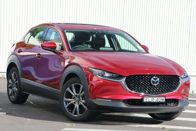 Demo Mazda CX-30 DM4WLA X20 SKYACTIV-Drive i-ACTIV AWD Astina Wollongong, 2020 Mazda CX-30 DM4WLA X20 SKYACTIV-Drive i-ACTIV AWD Astina Soul Red Crystal 6 Speed