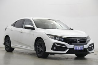 2020 Honda Civic 10th Gen MY20 VTi-S White 1 Speed Constant Variable Hatchback
