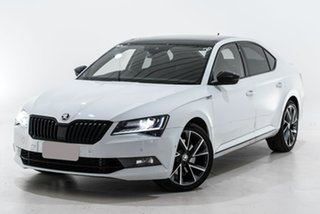 2017 Skoda Superb NP MY17 206TSI Sedan DSG SportLine White 6 Speed Sports Automatic Dual Clutch.