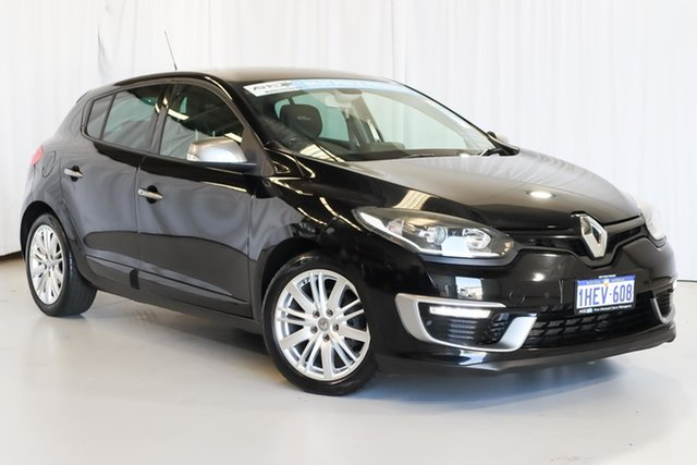 Used Renault Megane III B95 Phase 2 GT-Line EDC Wangara, 2015 Renault Megane III B95 Phase 2 GT-Line EDC Black 6 Speed Sports Automatic Dual Clutch Hatchback