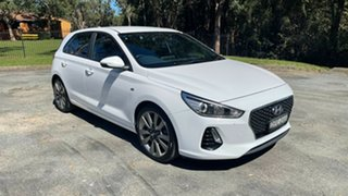 2017 Hyundai i30 PD MY18 SR D-CT Polar White 7 Speed Sports Automatic Dual Clutch Hatchback.