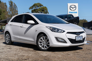 2013 Hyundai i30 GD Active Creamy White 6 Speed Sports Automatic Hatchback.