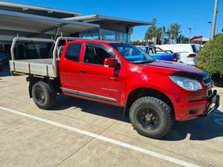 2013 Holden Colorado RG MY13 LX Space Cab Red 5 Speed Manual Cab Chassis.