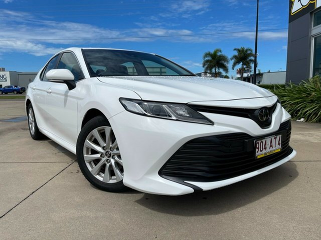 Used Toyota Camry ASV70R Ascent Townsville, 2019 Toyota Camry ASV70R Ascent White/090419 6 Speed Sports Automatic Sedan