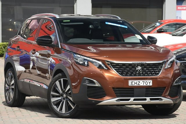 Used Peugeot 3008 P84 MY20 GT Line SUV Parramatta, 2020 Peugeot 3008 P84 MY20 GT Line SUV Bronze 6 Speed Sports Automatic Hatchback