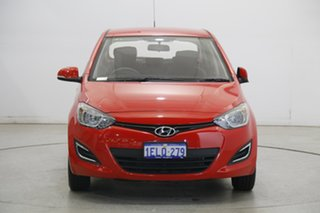 2014 Hyundai i20 PB MY15 Active Electric Red 6 Speed Manual Hatchback.
